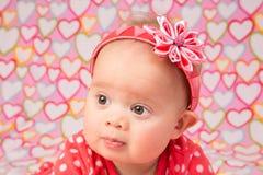 Neonata con la fascia Fotografia Stock Libera da Diritti