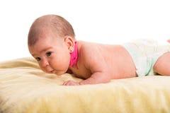 Neonata con torcicollo Fotografia Stock