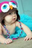 Neonata curiosa Fotografia Stock
