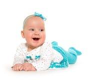 Neonata di sei mesi sveglia fotografie stock libere da diritti