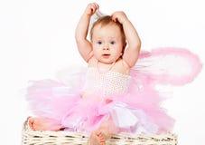 Neonata infantile sveglia che fa il vostro hairdo Immagini Stock Libere da Diritti