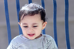 Neonata musulmana araba felice Fotografia Stock Libera da Diritti