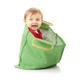 Neonata nel sacchetto di acquisto Immagine Stock