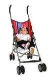 Neonata in passeggiatore Fotografia Stock