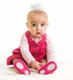 Neonata in principessa del costume Fotografie Stock Libere da Diritti