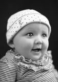 Neonata sorridente Fotografia Stock