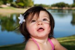 Neonata sorridente Fotografie Stock