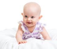 Neonata sorridente Immagine Stock