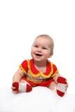 Neonata sorridente Immagini Stock