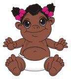 Neonata sorridente del negro royalty illustrazione gratis