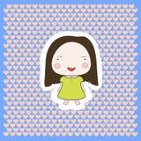 Neonata sorridente felice sveglia del fumetto Fotografia Stock