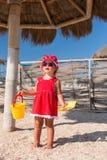 Neonata su una spiaggia Immagine Stock Libera da Diritti