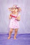 Modello della neonata di modo Fotografia Stock