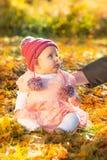 Neonata sveglia di autunno Fotografia Stock Libera da Diritti