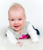Neonata sveglia isolata Fotografia Stock