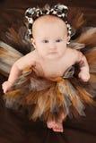 Neonata in tutu animale fotografia stock