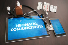 Neonatal conjunctivitis (infectious disease) diagnosis medical  Royalty Free Stock Image
