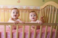 Neonate gemellare Immagini Stock