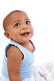 Neonato adorabile che osserva in su Immagini Stock Libere da Diritti