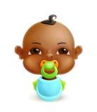 Neonato africano illustrazione di stock