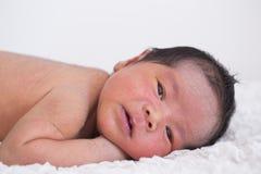 Neonato asiatico Fotografie Stock Libere da Diritti
