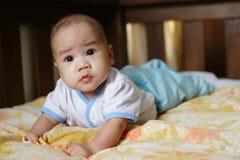 Neonato asiatico fotografia stock