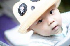 Neonato in cappello Fotografie Stock