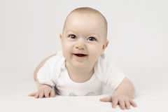 Neonato felice Fotografia Stock Libera da Diritti