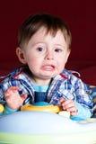 Neonato gridante Fotografia Stock