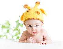 Neonato infantile divertente Fotografie Stock