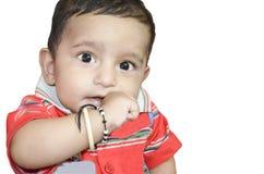 Neonato infantile felice Fotografia Stock Libera da Diritti