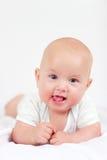 Neonato infantile sveglio, quattro mesi Immagine Stock