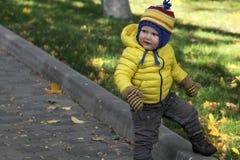 Neonato nel parco di autunno Fotografia Stock Libera da Diritti