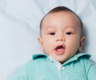 Neonato sorridente Fotografia Stock