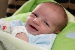 Neonato sorridente immagine stock