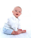 Neonato sorridente Fotografie Stock Libere da Diritti