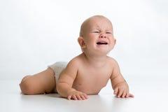 Neonato turbato Fotografia Stock Libera da Diritti