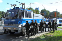 Neonazi-Demo Sept.-03 11 in Dortmund Deutschland Stockbild