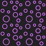 Neonbubblamodell Arkivfoton