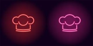 Neonchefhut in der roten und rosa Farbe Lizenzfreies Stockbild