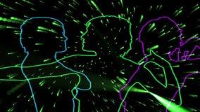 Neondansers vector illustratie