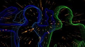 Neondansers klassieke 4k royalty-vrije illustratie