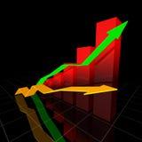 Neondiagramm Stockbild