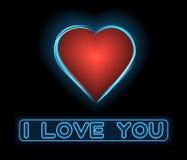 Neonförälskelsehjärta Royaltyfria Bilder