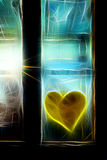 Neonfenster Lizenzfreies Stockfoto