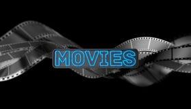 Neonfilmtecken på mörk bakgrund vektor illustrationer