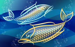 Neonfish Fotografie Stock