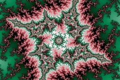 Neonfractal rode groene bosster stock illustratie