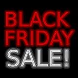 Neonförderungsverkauf des roten Zeichens des Verkaufs Lizenzfreie Stockfotos