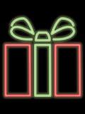 Neongeschenkpaket Lizenzfreies Stockbild